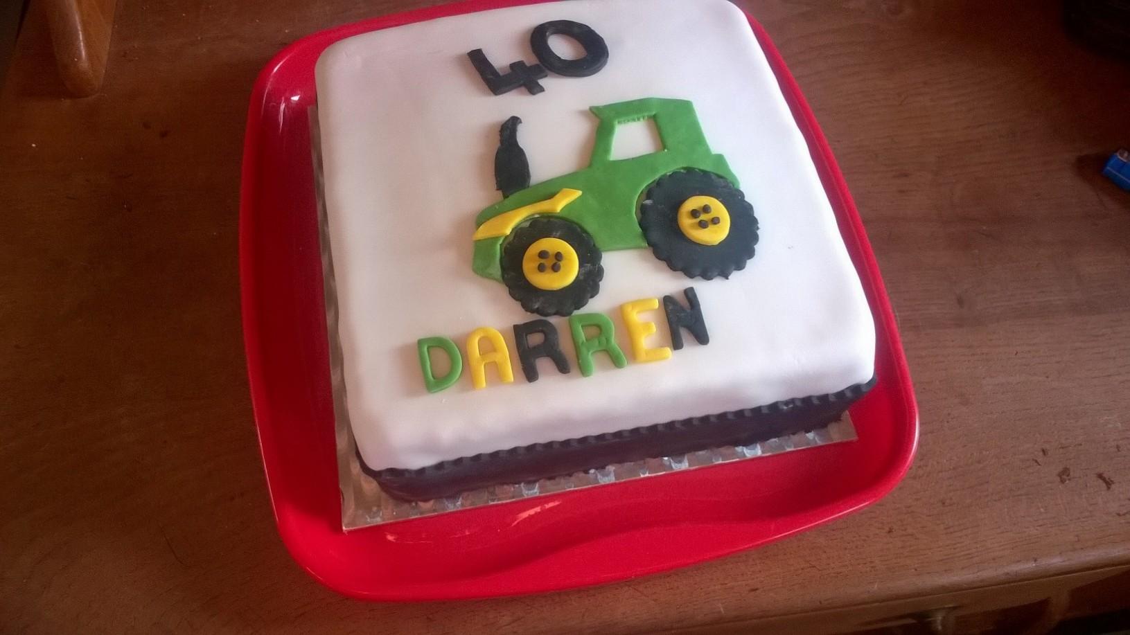 Birthday Cake Tractor 25