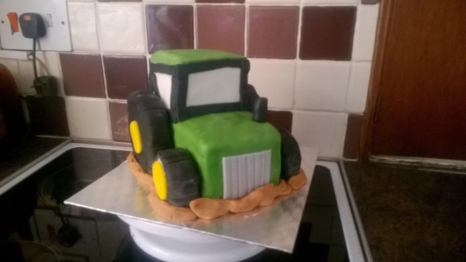 This Amazing 3D Tractor Cake Made For A Brilliant Birthday Gift Is Chocolate Sponge With Buttercream Filling