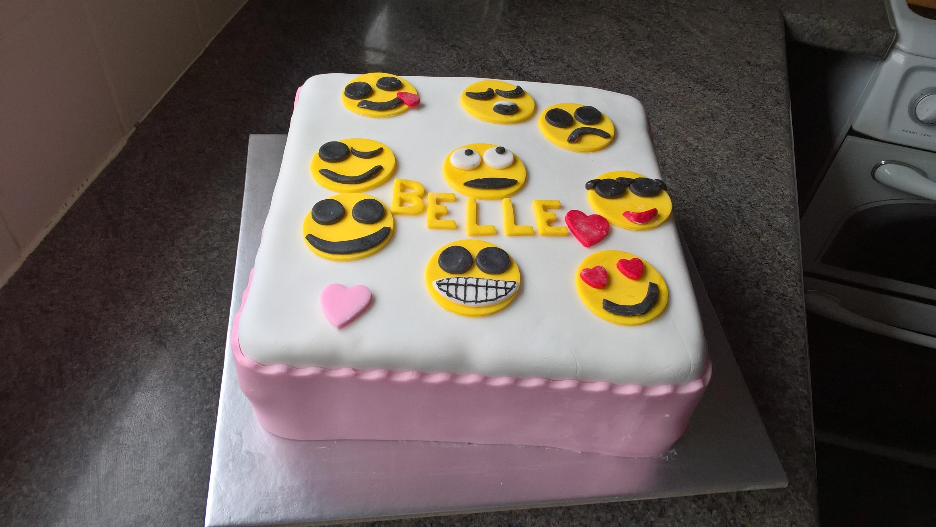 Birthday Cake Emoji Cakes By Debbie Walbrin