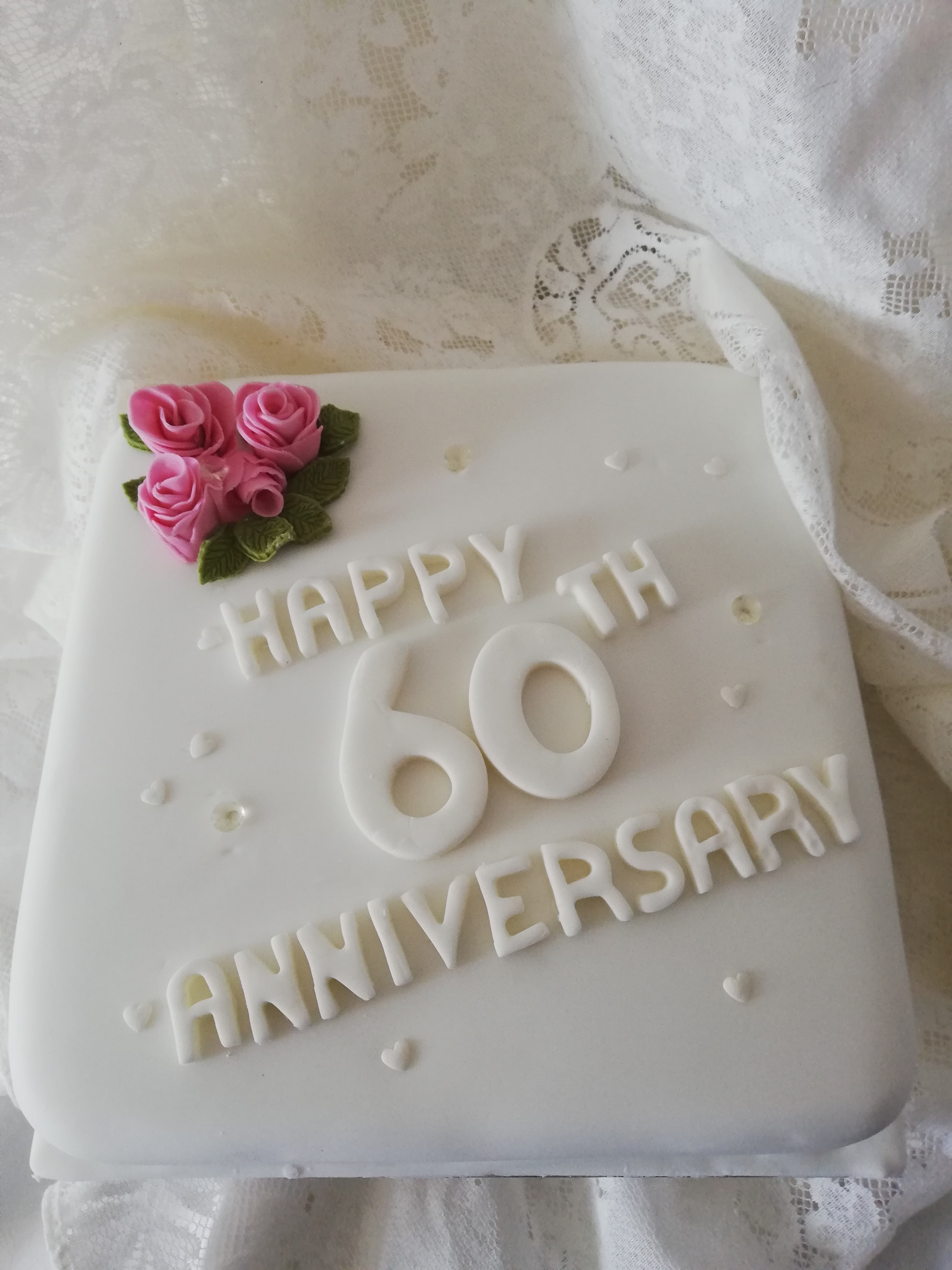Anniversary Cake 60th Cakes And Balloons By Debbie